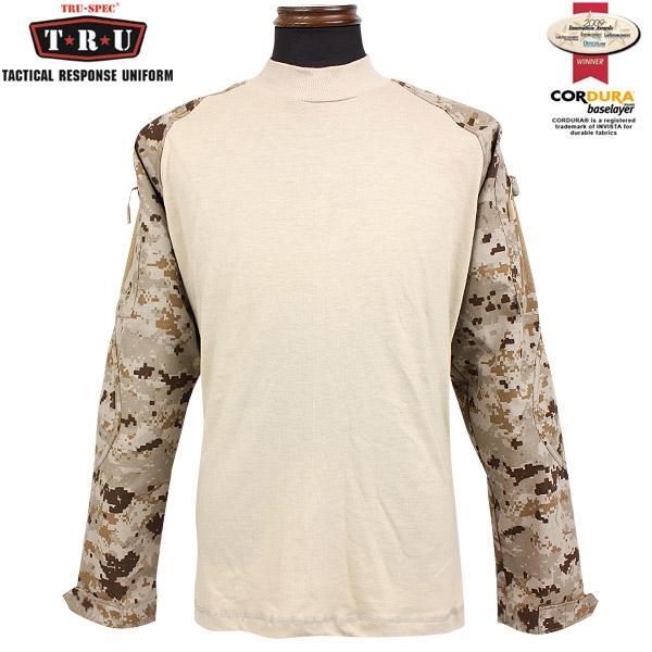 メンズ ミリタリー シャツ / TRU-SPEC/トゥルースペック Tactical Response Combatシャツ デザートデジタル 【長袖Tシャツ】 《WIP》【クーポン対象外】[Px] 服 男性 春 ギフト プレゼント
