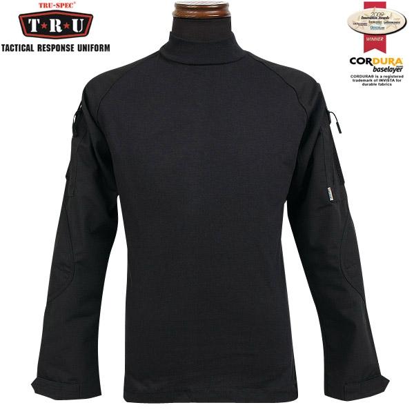 【20%OFFセール開催中】メンズ ミリタリー シャツ / TRU-SPEC/トゥルースペック Tactical Response Combatシャツ ブラック 【長袖Tシャツ】 / ミリタリー 服 春 【キャッシュレス5%還元対象品】