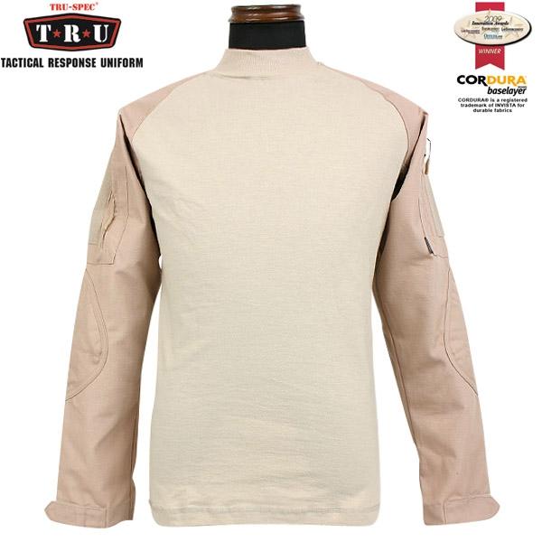 メンズ ミリタリー シャツ / TRU-SPEC/トゥルースペック Tactical Response Combatシャツ カーキ 【長袖Tシャツ】 《WIP》【クーポン対象外】[Px] ミリタリー 服 男性 春 ギフト プレゼント
