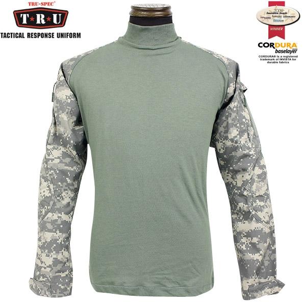 メンズ ミリタリー シャツ / TRU-SPEC/トゥルースペック Tactical Response Combatシャツ ACU 【長袖Tシャツ】 【クーポン対象外】 ミリタリー 服 春 【キャッシュレス5%還元対象品】