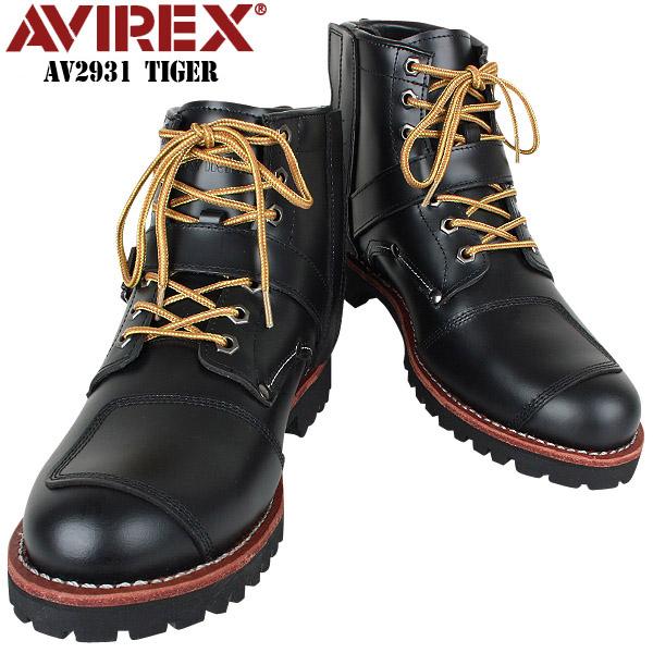 AVIREX アビレックス AV2931 TIGER バックルブーツ ブラック【クーポン対象外】[Px] ミリタリー 男性 ギフト プレゼント