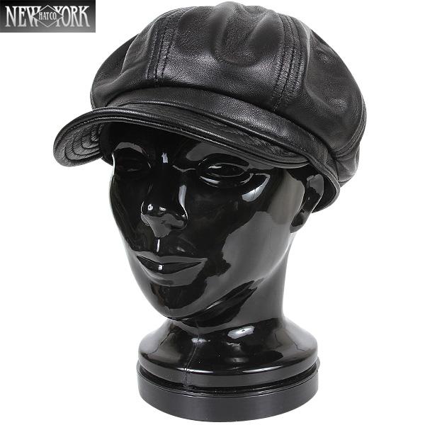 【20%OFFクーポン対象】New York Hat/ニューヨークハット 9207 Lambskin Spitfire キャスケット ブラック 【キャスケット】【9207-BLK】《WIP》 ミリタリー 男性 ギフト プレゼント