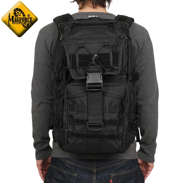 【20%OFFセール開催中】メンズ ミリタリー バッグ / MAGFORCE マグフォース MF-0521 TYD Computer Backpack Black リュックサック 【ミリタリーバック】《WIP》  ミリタリー 男性 旅行 ギフト プレゼント