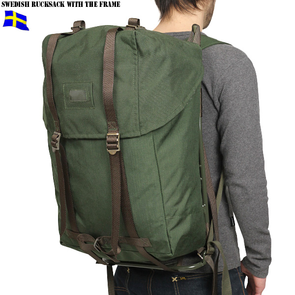 mens military bag real new sweden military framed rucksack military bag rucksack wip - Military Rucksack With Frame