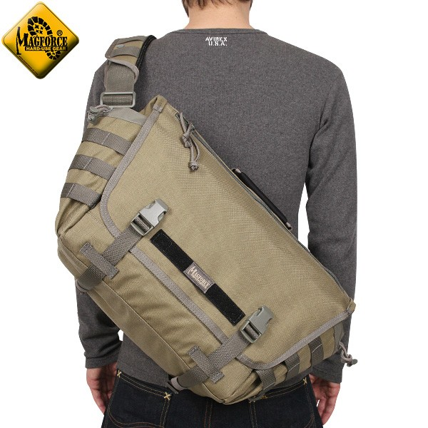 【20%OFFセール開催中】MAGFORCE/マグフォース MF-6023 Tactical Messenger Bag Tan/FGW ミリタリーバッグ メッセンジャーバッグ 《WIP》 ミリタリー 男性 ギフト プレゼント