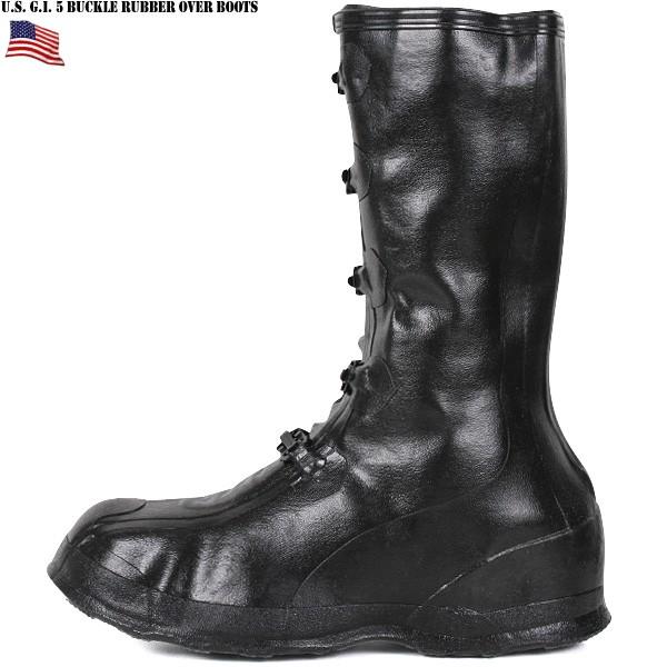 """美國軍隊真正全新美國軍隊 5 扣橡膠靴""""WIP""""雨穿軍人禮品贈品"""