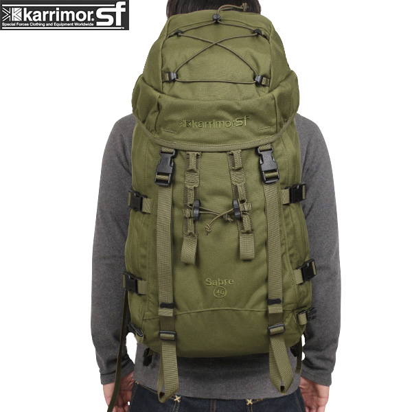 【20%OFFセール開催中】メンズ ミリタリー バッグ / karrimor SF カリマー スペシャルフォース Sabre 45 バッグパック OLIVE ミリタリーバッグ リュックサック《WIP》 ミリタリー 男性 旅行 ギフト プレゼント