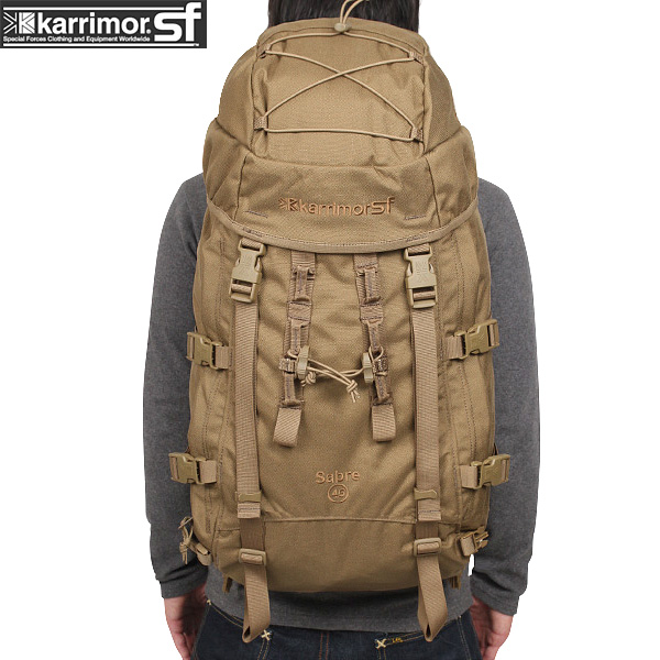 【20%OFFセール開催中】メンズ ミリタリー バッグ / karrimor SF カリマー スペシャルフォース Sabre 45 バッグパック COYOTE ミリタリーバッグ リュックサック《WIP》 ミリタリー 男性 旅行 ギフト プレゼント