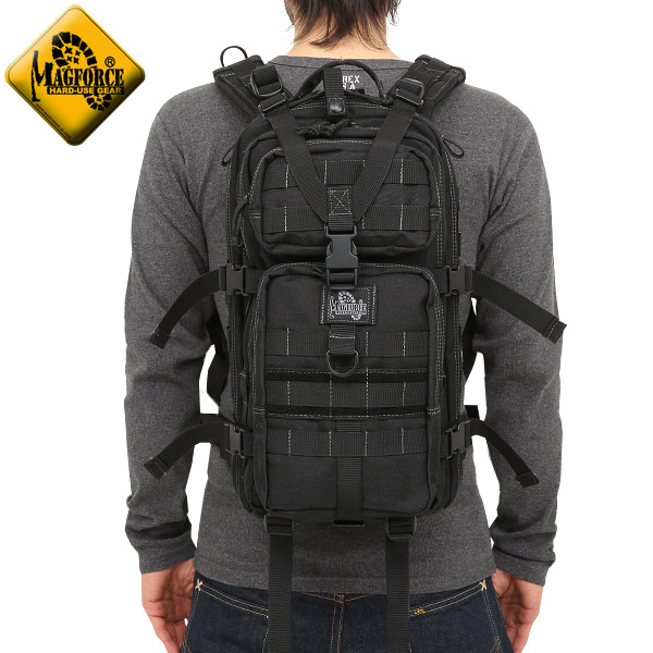 【20%OFFセール開催中】メンズ ミリタリー バッグ / MAGFORCE マグフォース MF-0513 Falcon2 Backpack BLACK 【デイバッグ】 バックパック《WIP》  ミリタリー 男性 旅行 ギフト プレゼント