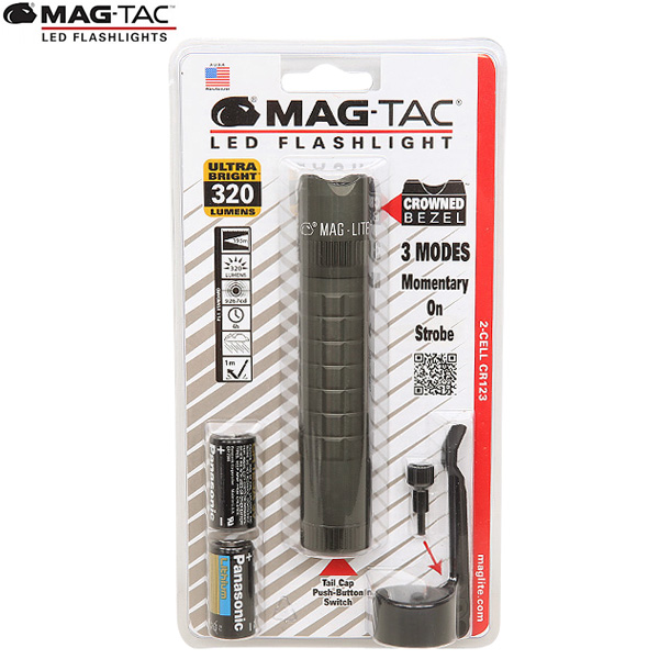 【20%OFFセール開催中】MAGLITE/マグライト MAG-TAC マグタック 2-CELL CR123 LED クラウンベゼル FOLIAGE GREEN 【タクティカルシリーズ】《WIP》 ミリタリー 男性 ギフト プレゼント
