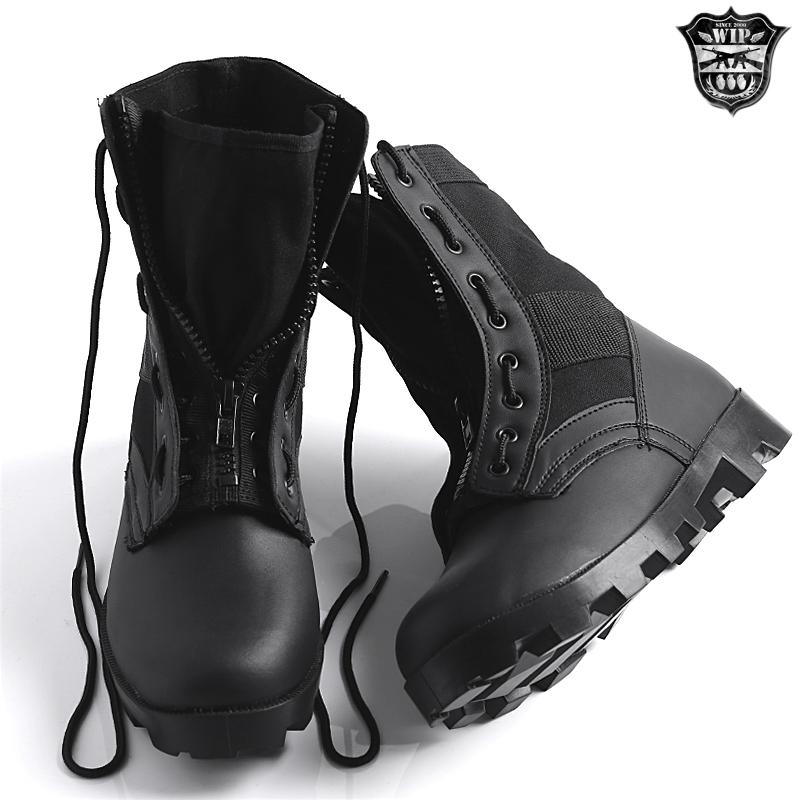 """安裝新軍事 G.I.風格,試點的靴子,尼龍拉鍊黑沙拉鏈拉鍊靴叢林靴子軍靴""""WIP""""10P01Oct16 軍人禮品贈品"""