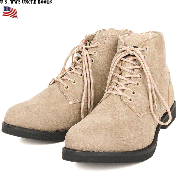 [WIP] brand new US Army WW2 M-43 type ankle boots SAND