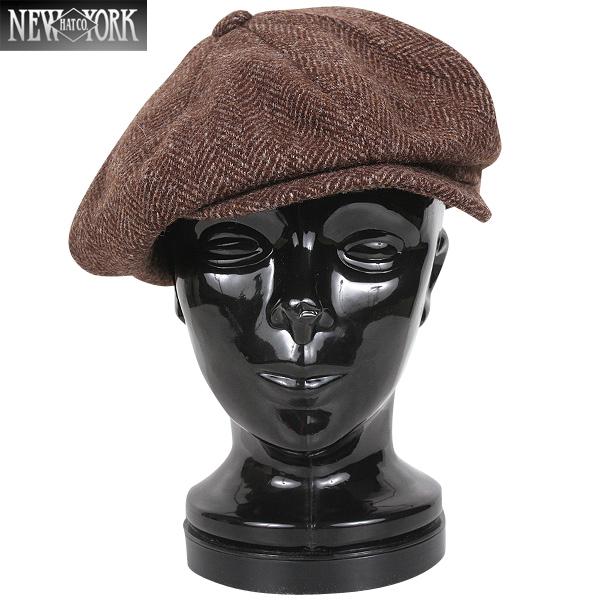 c0d75c85810 New York Hat  New York hat 9038 HERRINGBONE NEWSBOY casquette Brown    WIP     military man gift present
