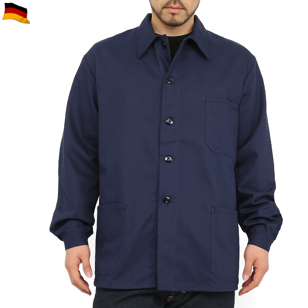【Xmas期間限定25%OFF大特価】実物 新品ドイツ軍HBT ワークジャケット NAVY 【デッドストック】【実物新品未使用】 薄手のジャケットなので年間を通してアウターからインナーに着用できます。 ミリタリー 秋 冬 春 【キャッシュレス5%還元対象品】