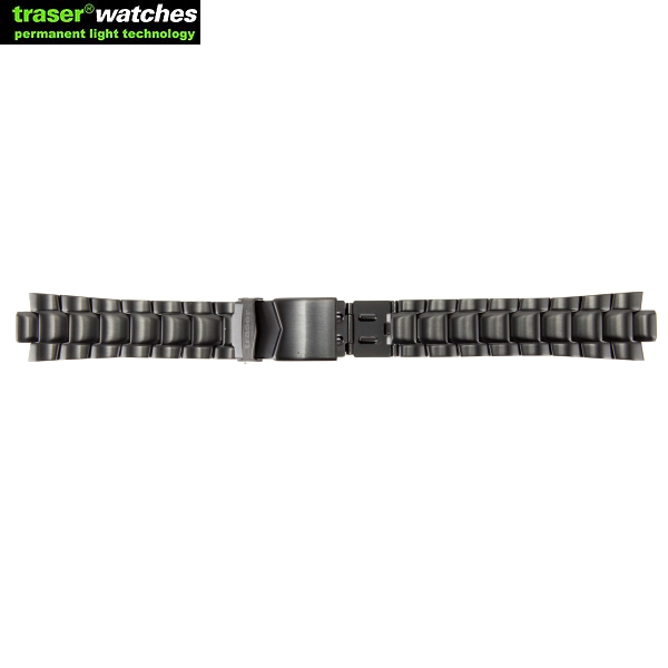 TRASER/トレーサー STEEL ストラップ Diver BLACK STORM PRO (P6504シリーズ)用 9031707 重量感を感じさせるベルトで、ビジネスシーンにも最適です。 ミリタリー 男性 ギフト プレゼント【キャンペーン対象外】