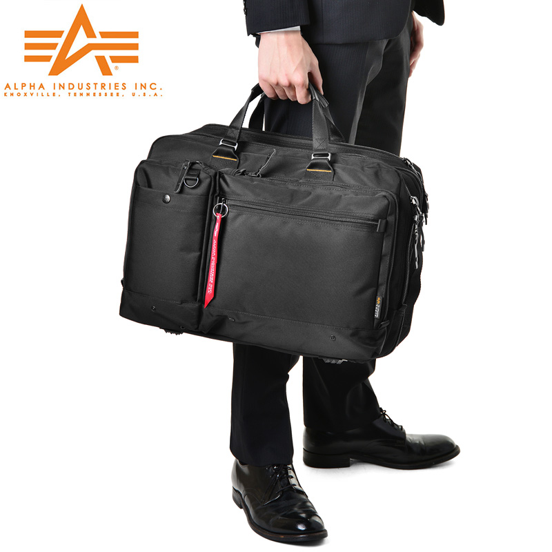 メンズ ミリタリー バッグ / ALPHA アルファ 0495300 PC/タブレット対応 多機能 3WAY エクスパンダブル ビジネスバッグ LARGE《WIP》 旅行 新生活 ギフト プレゼント【Sx】