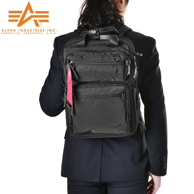 メンズ ミリタリー バッグ / ALPHA アルファ 0495500 PC/タブレット対応 多機能 3WAY ビジネスリュック《WIP》 【SX】旅行 新生活 ギフト プレゼント