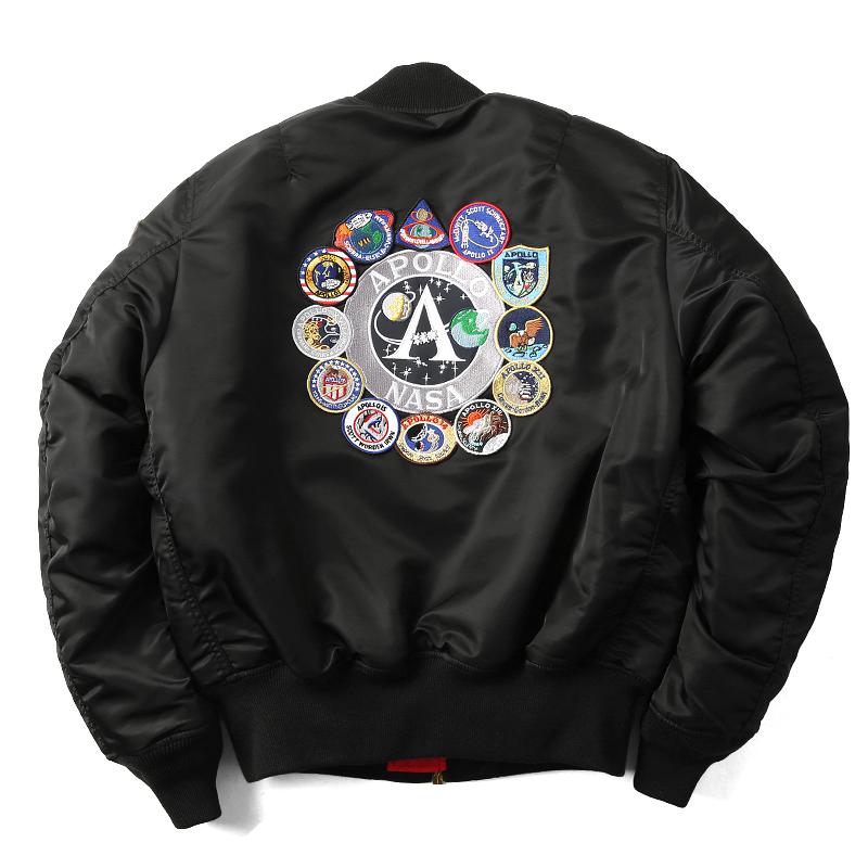 ALPHA USA NASA APOLLO MA-1| flight jacket| 21018| Men's| Military| jacket|  Military Jacket| MA1| MA-1| flight jacket| against cold| for autumn and