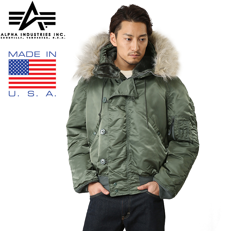innovative design b697e f4b21 ALPHA INDUSTRIES alpha MADE IN U.S.A N-2B flight jacket / men military  outer military jacket bomber jacket N2B N-2B jacket cold protection spring  gift ...