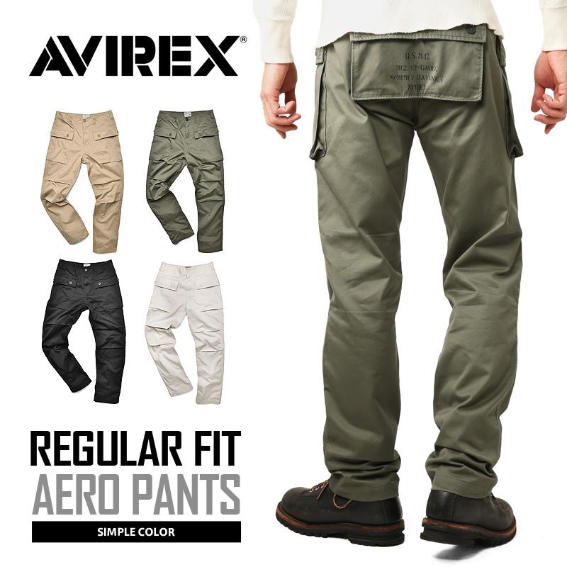 【送料無料】AVIREX アビレックス 6166112 AERO PANTS エアロ カーゴパンツ レギュラーフィット /【クーポン対象外】ミリタリー 軍物 メンズ