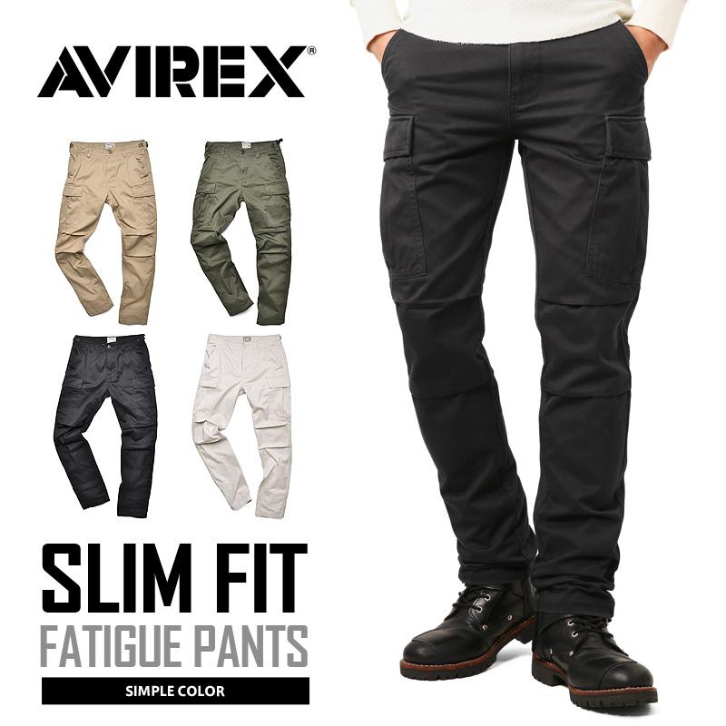 【送料無料】AVIREX アビレックス 6166122 FATIGUE PANTS ファティーグ カーゴパンツ スリムフィット /【クーポン対象外】ミリタリー 軍物 メンズ