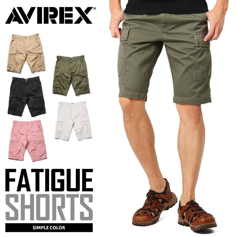 【送料無料】AVIREX アビレックス 6166118 FATIGUE SHORTS ファティーグ ショートパンツ /【クーポン対象外】ミリタリー 軍物 メンズ  【キャッシュレス5%還元対象品】