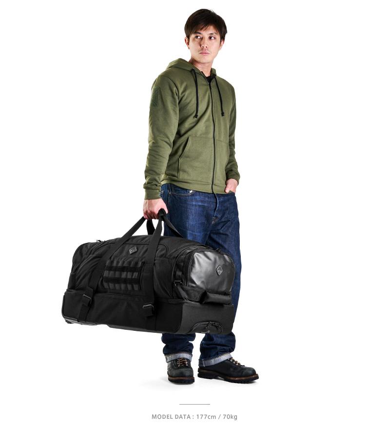"HAZARD4 危險 4 SHORELEAVE RUGGD 分裂滾子 (謝爾伯崎嶇分裂滾子) 2 顏色軍用包攜帶袋旅行袋大型倉儲商場長期旅行旅行體育黑狼黑狼""WIP""。"
