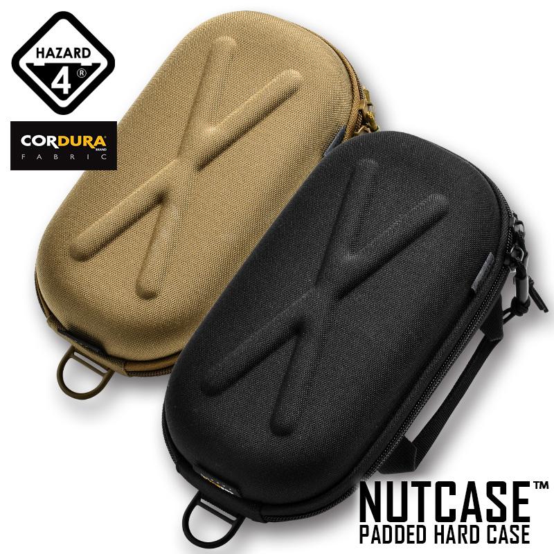 ミリタリー バッグ HAZARD4 ハザード4 NUTCASE PADDED HARD 新着セール CASE ブランド買うならブランドオフ ハザードフォー パデッド ナット T ハードケース BLACK COYOTE
