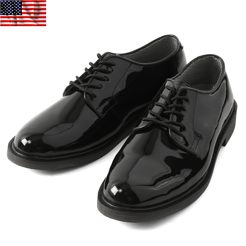 Brand new US Army U.S.ARMY officer shoes (oxfords) men s military service  shoes business dress leather shoes skin replica reproduction BLACK black  American ... 56ff142a9