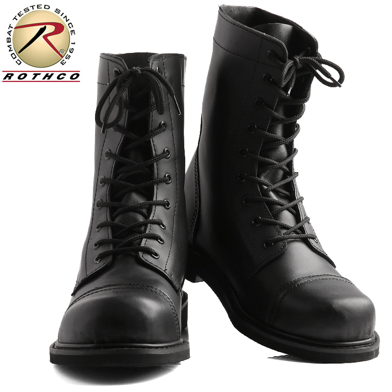 e073c1de695 ROTHCO Roscoe G.I. STYLE leather combat boot STEEL TOE BLACK 5092 /  military forces thing men gift