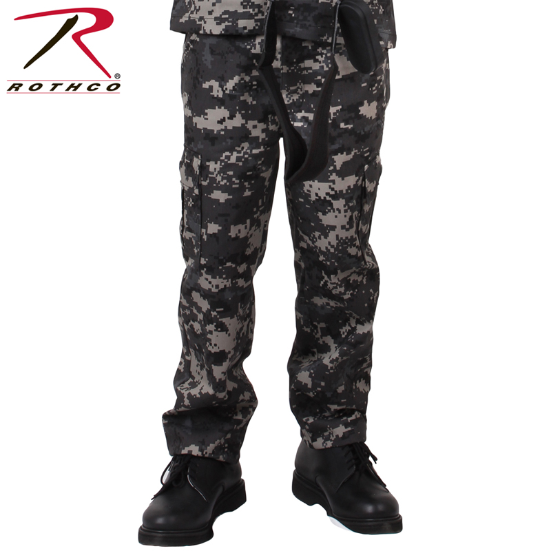 kids military style bdu pants subdued urban digital camo camouflage rothco 66415