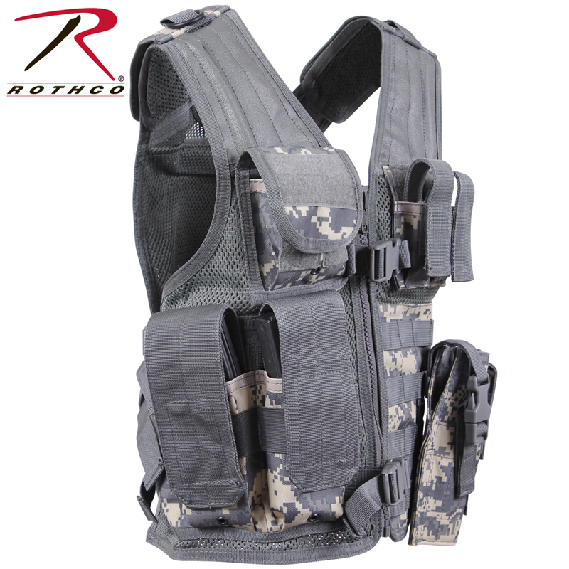 6987a2e187 ROTHCO rothco kids TACTICAL CROSS DRAW best 5598 ACU Digital Camo kids  junior military tactical vest combat clothing uniform equipped with  survival game ...