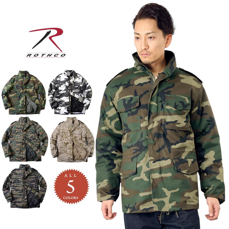 【15%OFFクーポン対象品】ROTHCO ロスコ M-65フィールドジャケット CAMO /ミリタリー 軍物 メンズ