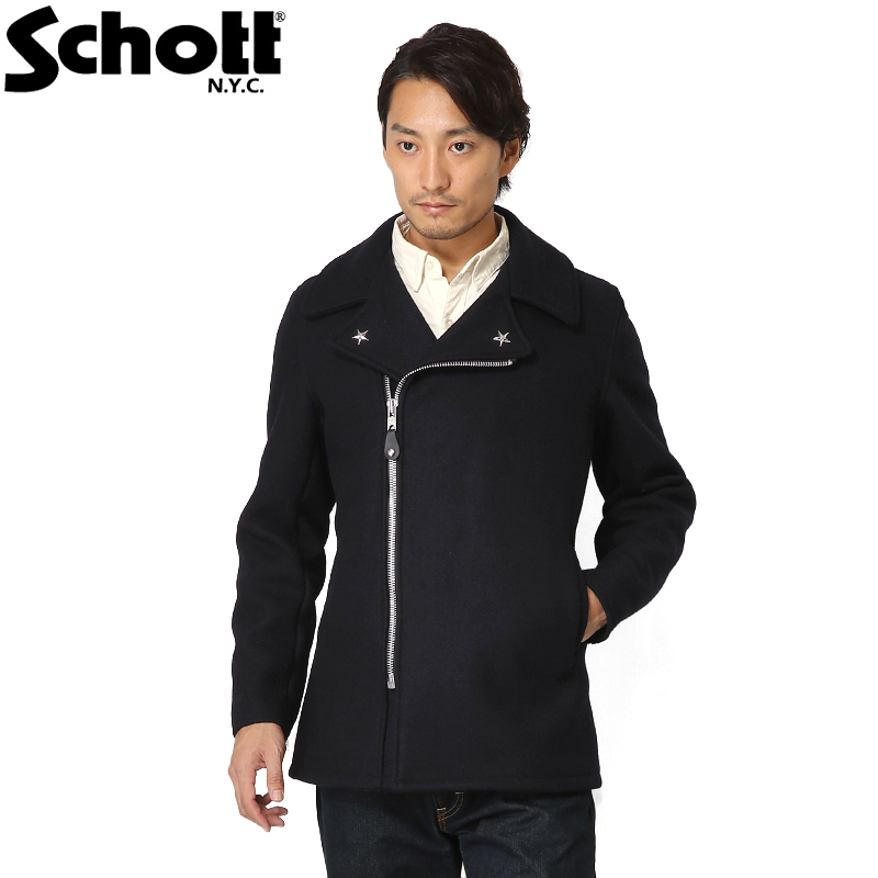 【今だけポイント10倍】Schott ショット 779 ウール ジップ ピーコート 7505 /【クーポン対象外】【入】ミリタリー 軍物