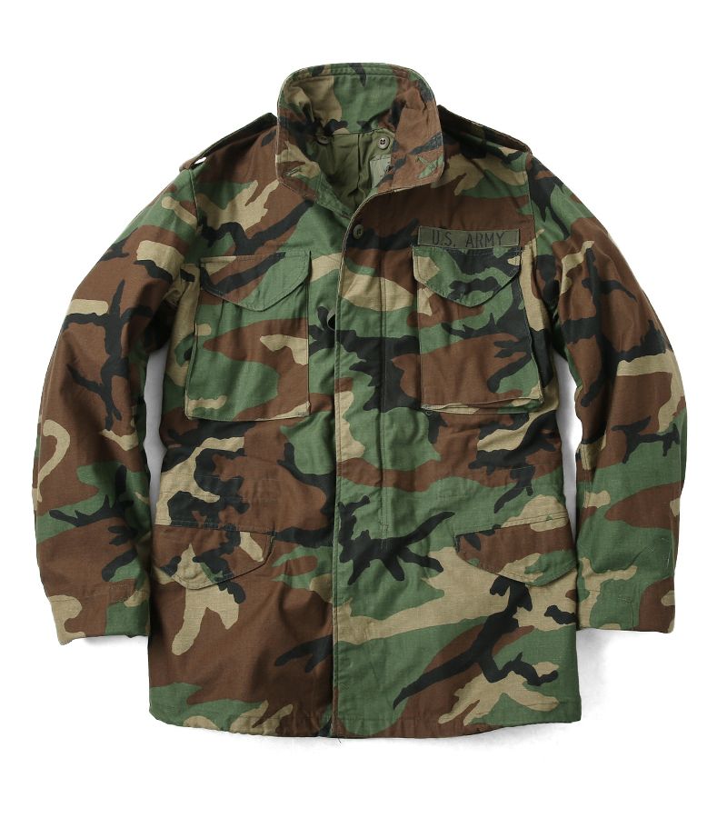 963452bde91 WAIPER RAKUTENICHIBATEN  Real surplus U.S. G. I. M-65 field jacket WOODLAND  woodland USED men s military outer military jacket M65 M-65 field jacket ...