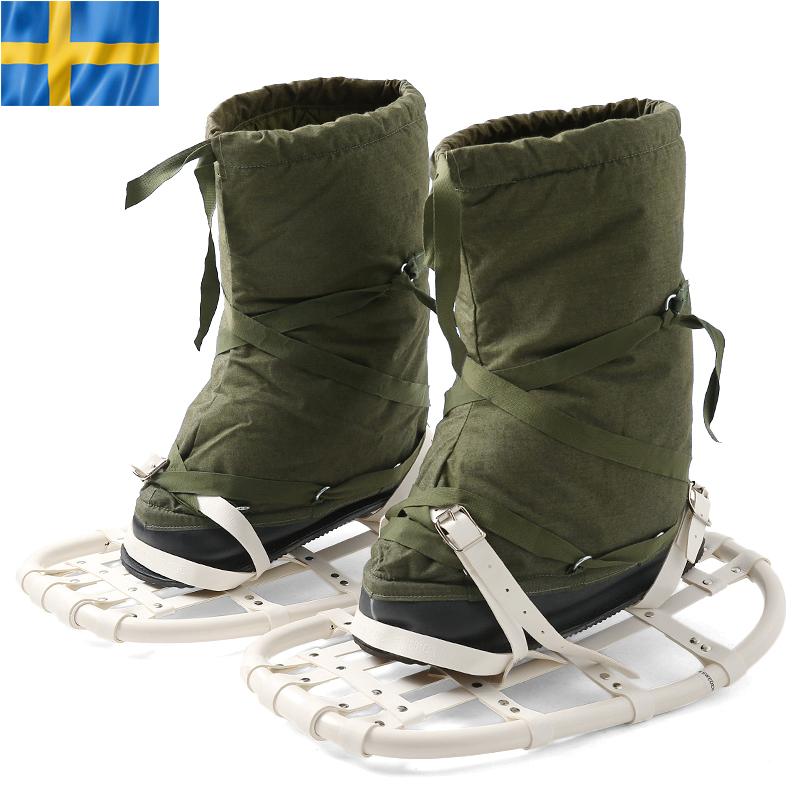 【15%OFFクーポン対象】実物 スウェーデン軍スノーラケット付きスノーブーツ USED《WIP》 【中古】 ミリタリー 男性 ギフト プレゼント