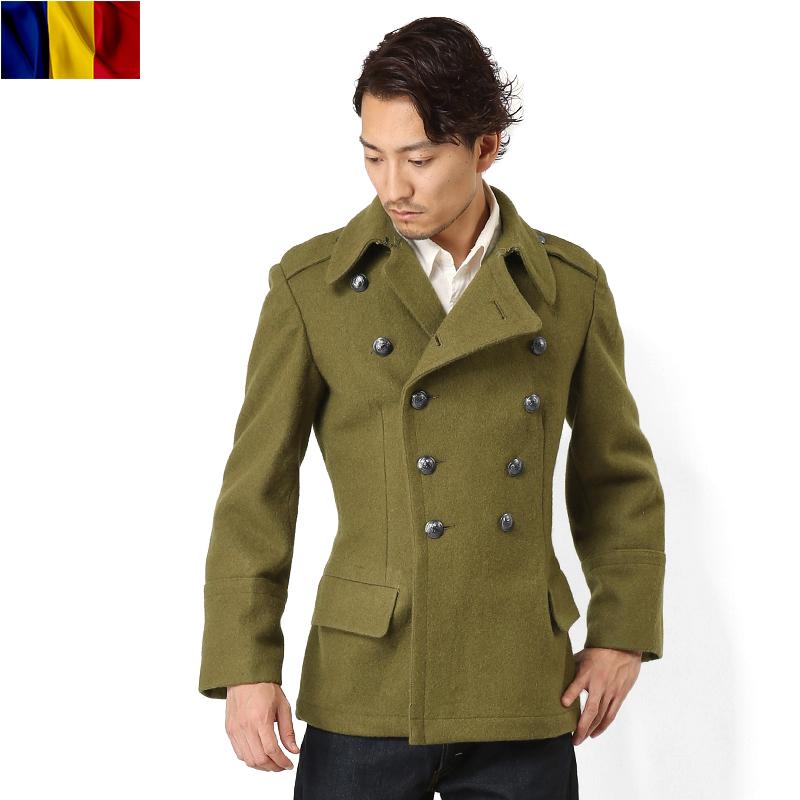 """真正的品牌新的羅馬尼亞軍隊改造羊毛大衣""""WIP""""10P01Oct16"""