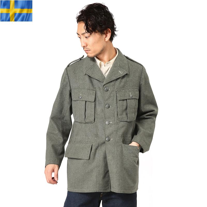 【Xmas期間限定25%OFF大特価】実物 スウェーデン軍 M-39 ウールジャケット USED #2ミリタリー 軍物 メンズ  【キャッシュレス5%還元対象品】