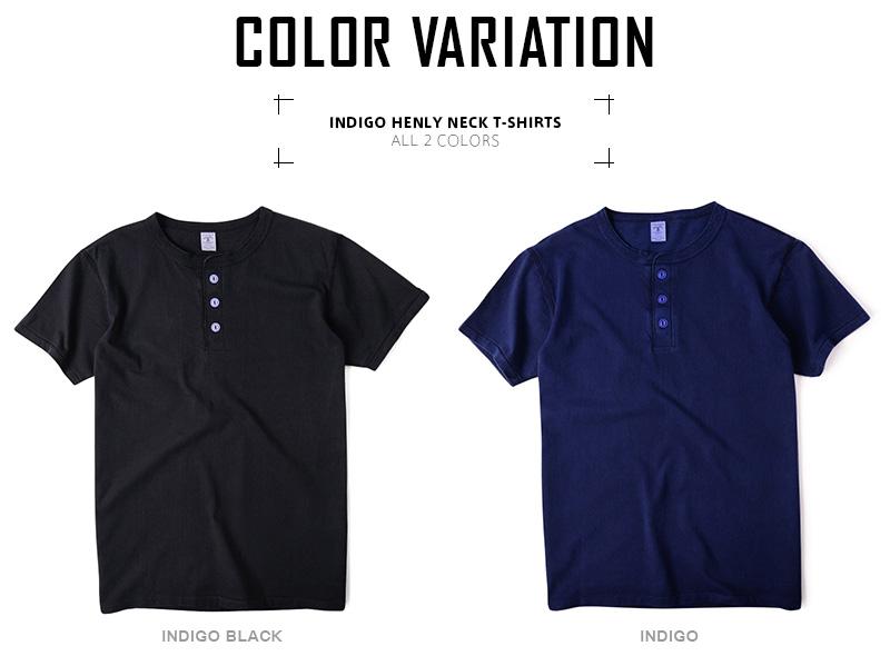 20 off velva sheen indigo henly neck t for Cross counter tv shirts