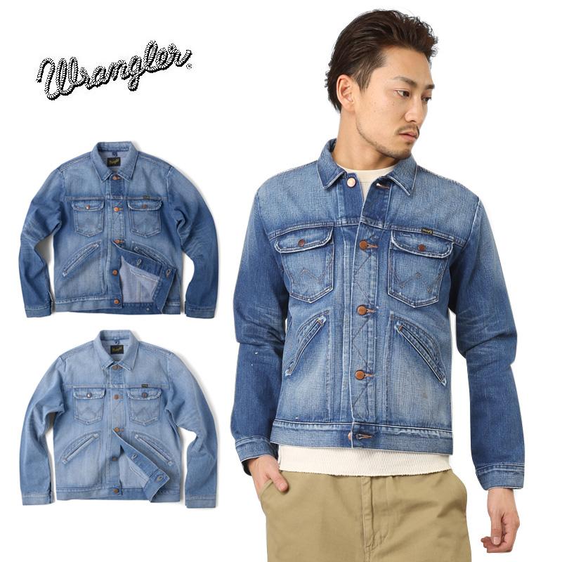 9a0fa35f82c Wrangler Wrangler 124 MJ denim jacket WM1724 USED WASH used wash men s  outerwear jacket denim jacket G Jean-vintage casual spring winter