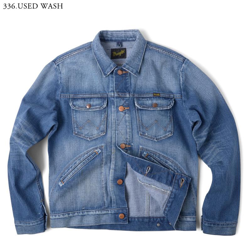 """牧馬人牧馬人 124 MJ 牛仔夾克 WM1724 使用使用洗男式外套夾克牛仔夾克 G 吉恩復古休閒春冬""""WIP""""禮品贈品"""