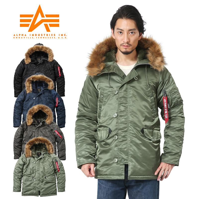 finest selection cc47c 9635f ALPHA INDUSTRIES alpha N-3B flight jacket JAPAN FIT 20094 men's military  outer military jacket winter clothing N3B N-3B alpha company basic flight  ...