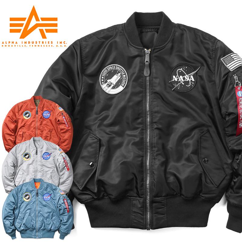 【30%OFF大特価】ALPHA アルファ TA0167 NASA 100th MISSION MA-1フライトジャケット / ミリタリー ミリタリージャケット MA1 ナサ