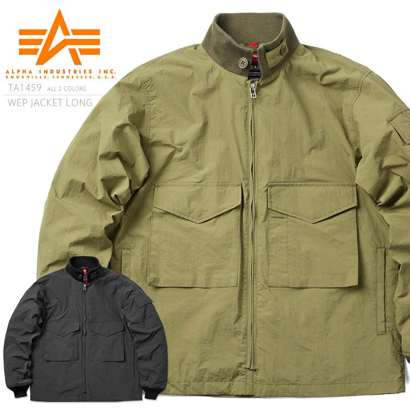 ALPHA アルファ TA1459 WEPジャケット LONG / 米海軍 G-8 WEP ジャケット ミリタリー 【キャッシュレス5%還元対象品】