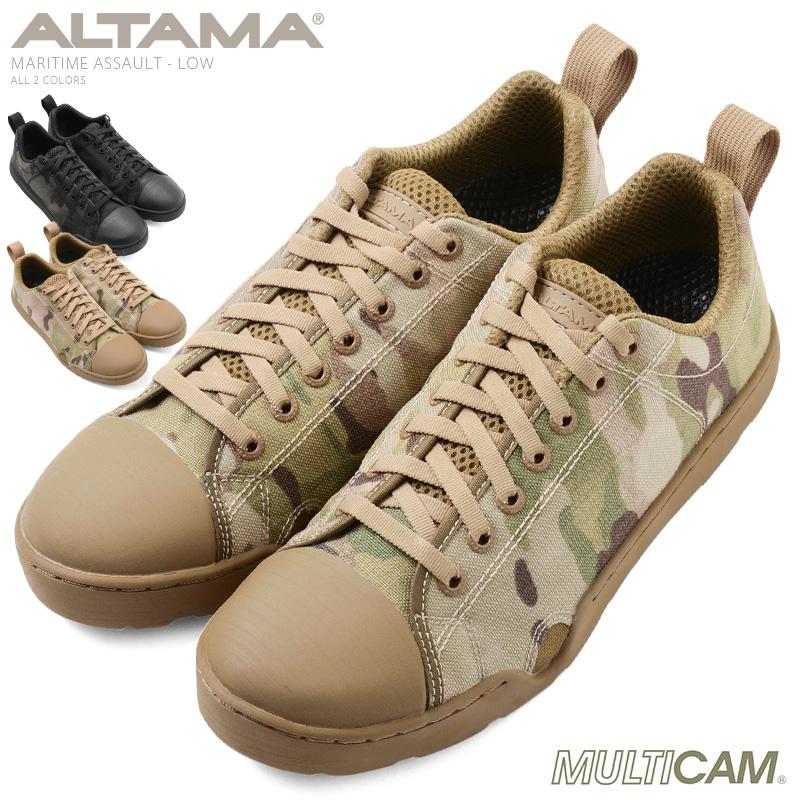 【20%OFFセール開催中】ALTAMA アルタマ MARITIME ASSAULT タクティカルスニーカー LOW - MultiCam《WIP》ミリタリー 軍物 メンズ 男性 ギフト プレゼント
