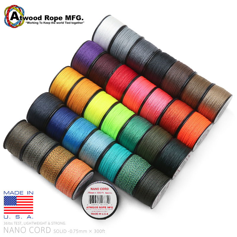 ATWOOD ROPE MFG. アトウッド・ロープ 0.75mm × 300フィート NANOコード MADE IN USA