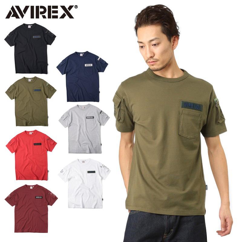 AVIREX アビレックス 6123036 FATIGUE クルーネックTシャツ /【クーポン対象外】ミリタリー 軍物 メンズ  【キャッシュレス5%還元対象品】
