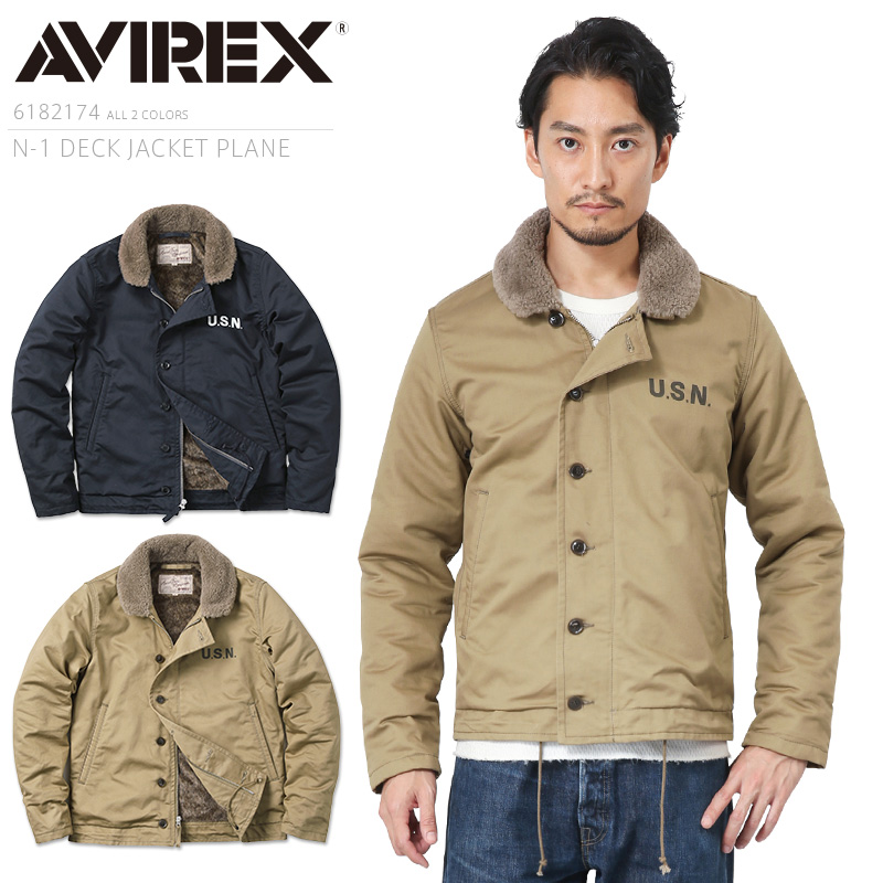 AVIREX アビレックス 6182174 N-1 デッキジャケット PLAIN /【クーポン対象外】ミリタリー 軍物 メンズ 男性 ギフト プレゼント