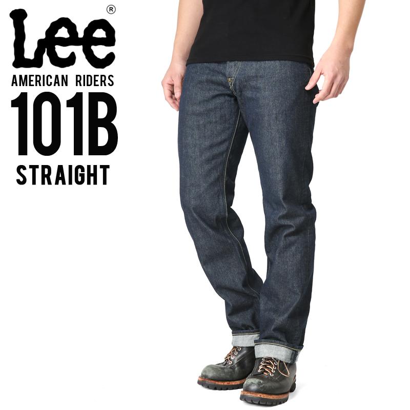 Lee リー AMERICAN RIDERS 101B ストレート デニムパンツ ダークインディゴ【LM5010-500】/メンズ ミリタリー【キャッシュレス5%還元対象品】