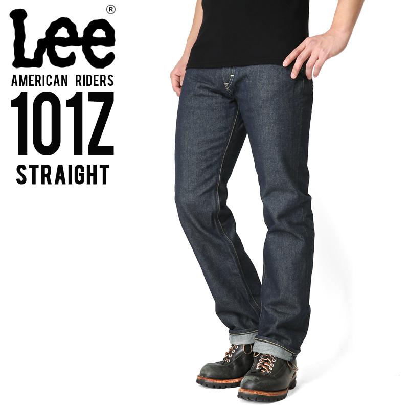 Lee リー AMERICAN RIDERS 101Z ストレート デニムパンツ ダークインディゴ 【LM5101-500】/メンズ ミリタリー【キャッシュレス5%還元対象品】